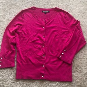 Express night pink cardigan